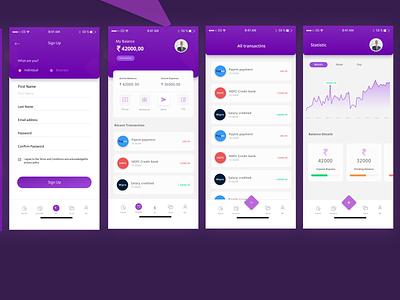 Wallet App design ui figma sketch adobe xd