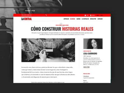 La Central (concept) - Course page