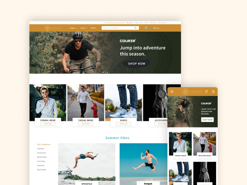 Men Category Page - Exploration