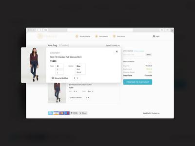 Cart Screen - E-commerce