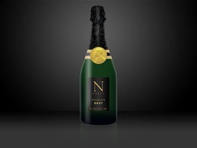Nobel photoshop bottle spumante champagne wine