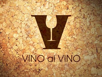 Vino al Vino logo identity brand wine logo design italy