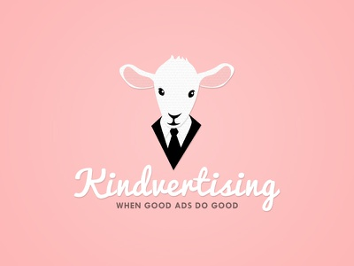 Kindvertising logo identity brand good kindness charity logo design