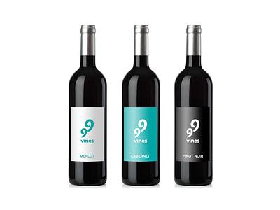 99vines branding wine logo identity 99vines illustrator long island