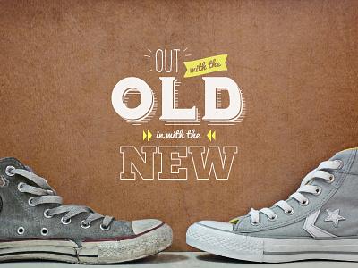 Chucks typography chucks converse old new custom custom design