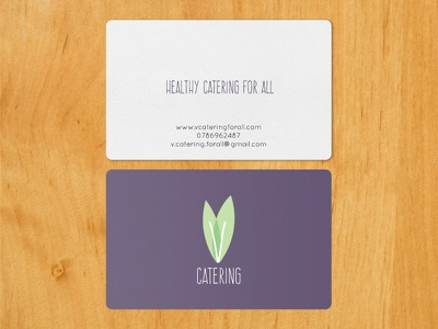 VCatering business card healthy illustrator vegan catering logo