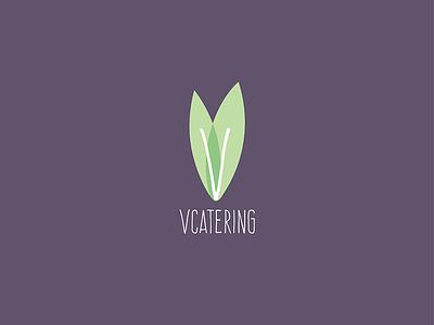 VCatering catering vegan illustrator logo
