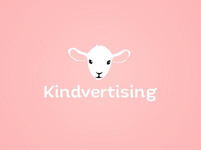 Kindvertising Logo kindvertising white pink illustrator lamb logo advertising kind