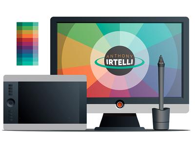 Portfolio Site Illustration illustrator cc web vector illustration