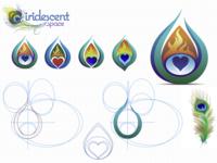 Iridescent logo workup