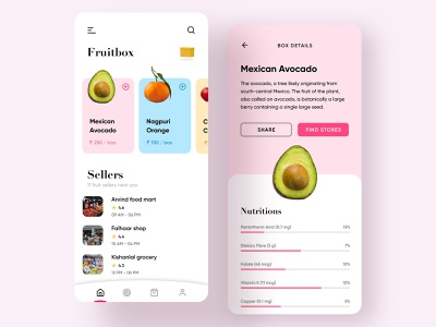 Fruitbox🍎🍊🍋🍉🍓🥑 ux ui fruit icon design dailyui shop shopping cart mart grocery online nutrition fruity seller grocery mobile app buy fruitbox fruits
