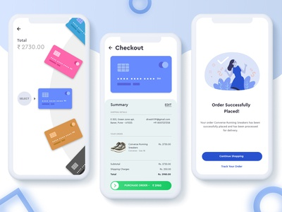 Checkout Page using Credit Cards for Shopping