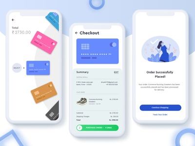 Checkout Page using Credit Cards for Shopping payment illustration app dailyui checkout shopping credit cards creditcard