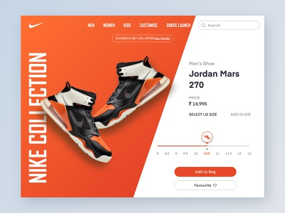 E-commerce shop for Nike (DailyUI) #012 dailyuichallenge sale shoes nike running nike air max payment landing page landing shopping ecommerce nike ux branding ui dashboad typography icon app dailyui design