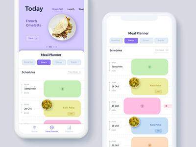 Health app for maintaining Daily Schedules. payment dailyuichallenge dailyui ux ui cards meals diet food schedules landing page mobile app medical healthapp health