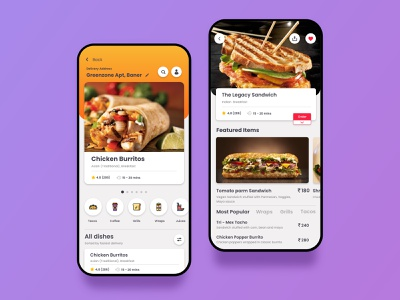 Online Food Delivery at your doorstep coffee diet items hotel dishes snacks homepage delivery online food landing page dashboad ux dailyuichallenge payment icon design ui dailyui app