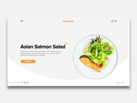 Food Landing page - Asian salmon Salad