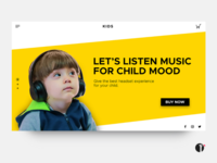 Headset for kids landing page