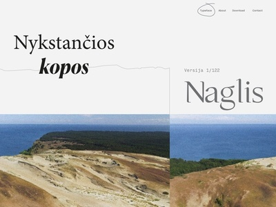 Typeface Naglis Website