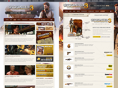 Additional Pages portfolio 2013 responsive clean uncharted3 case study