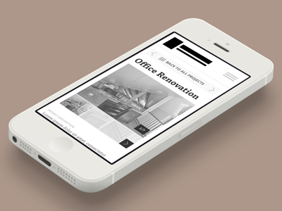 Single Project Page Wireframe mobile wireframe iphone angle gallery touch