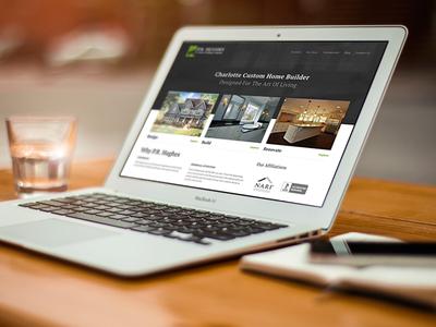 P.R. Hughes — Live! wordpress custom site architecture construction builder home builder responsive mobile friendly unsplash