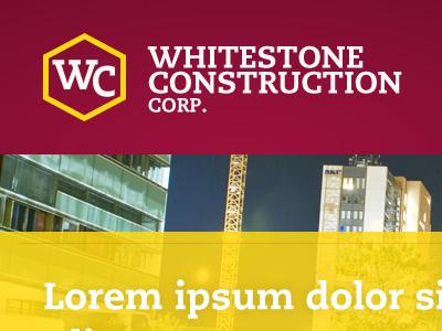 Whitestone Construction Corp modern clean vibrant