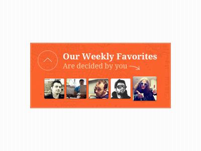 Our Weekly Favorites widget avatars