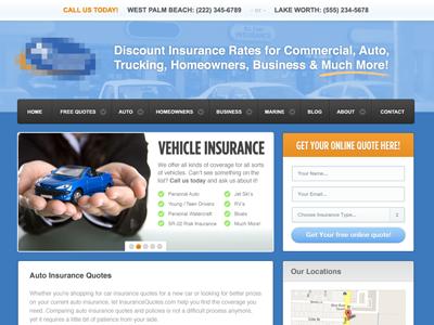 Insurance Company Website website blue clean wordpress modern