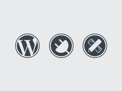 Wordpress Icons wordpress icons circle plugin plug-in design