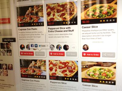 Menu letsordernow menu restaurant avatar share icon social rating store grid