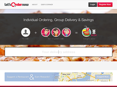 Let's Order Now — Version 3 letsordernow homepage