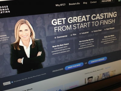 Brooke Thomas Casting Website clean casting modern