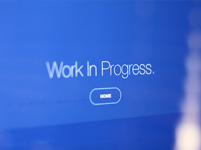 Work In Progress. wip blue simple helvetica