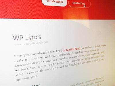 Post blog blog post post wordpress portfolio clean flat sans-serif serif typography orange round buttons round button