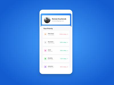 Settings screen ui settings ui app ux ui uiux design dailyui