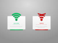 Wifi Connection Flash Message ui