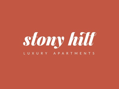 Stony Hill Logo Concept apartments apartment brand real estate developer type typography logo design logo design branding brand and identity