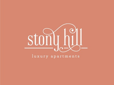 Stony Hill Logo Concept 2 pennsylvania apartments apartment brand real estate developer type typography logo design logo design branding brand and identity