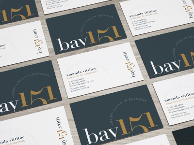 Bay 151 business card design business card typography bay logo branding brand and identity