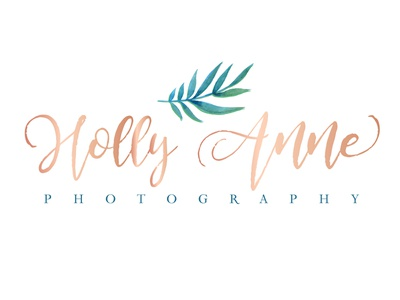 Holly Anne Photography watercolor icon palm leaf wedding photographer hawaii photographer logo photographer brand typography logo design logo branding brand and identity