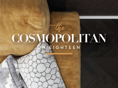 The Cosmopolitan on Eighteen urban cosmo cosmopolitan apartment apartments brand serif logo developer real estate typography logo design logo branding brand and identity