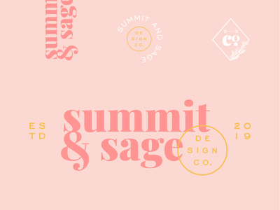 Summit and Sage brand agency brand identity ampersand serif logo icon illustration design company stationery stationery design graphic designer summit sage brand typography logo design logo branding brand and identity