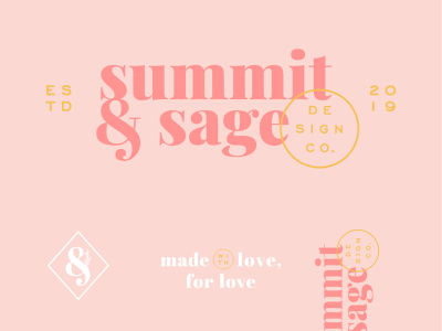 Summit and Sage design company sage summit brand identity brand agency ampersand graphic designer serif logo icon illustration brand typography logo design logo branding brand and identity