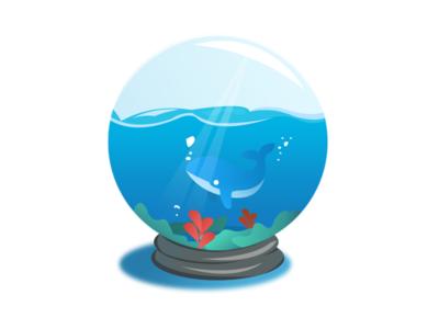 sea glass ball