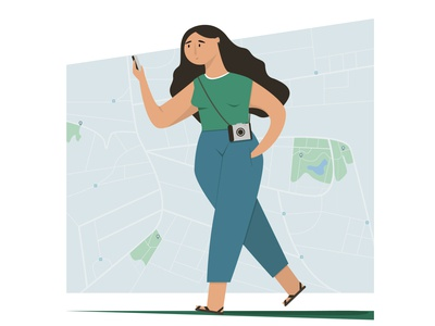 Travel girl illustration