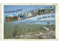 NH Vintage Postcard