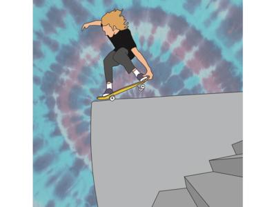 Daniel Lutheran skateboard drawing tie dye digital illustration adobe illustrator toy machine illustrator graphic design skateboarding illustration