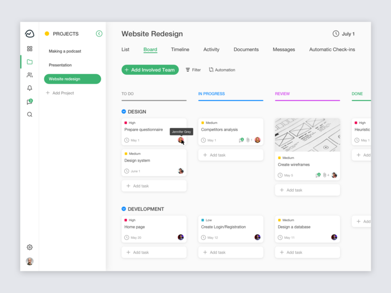 Kanban Board White dark ui dark todo list todo trello asana basecamp clean ui assignment task management task project management project cards ui cards board kanban white clean ui
