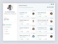 Telemedicine Doctor's Portal - Dashboard